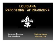 P&C Form Filing - Advanced - Louisiana Department of Insurance