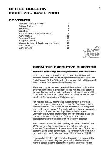 OFFICE BULLETIN ISSUE 70 – APRIL 2008 - Association of ...