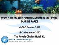marine park policy - NRE