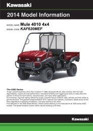 Model Information 2014 Mule 4010 FI Power Steering