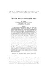 Turbulent effects on solar acoustic waves - Department of ...