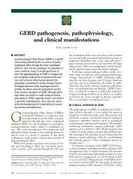 GERD Pathogenesis, Pathophysiology, And Clinical Manifestations