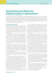 Stand der Palliativmedizin in Deutschland - Caritas-Krankenhaus St ...