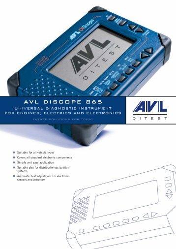 AVL DISCOPE 865 - AVL DiTEST
