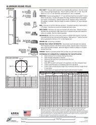 ALUMINUM ROUND POLES - LSI Industries Inc.