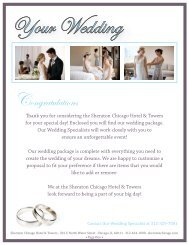 Catering Wedding 16 - Sheraton Chicago Hotel & Towers