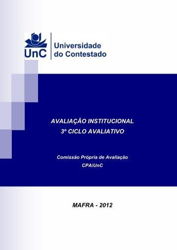 Projeto Avalaliação Institucional 2012 - UnC