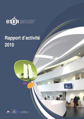 Rapport d'activité de l'ESEN 2010 - Ministère de l'Éducation nationale