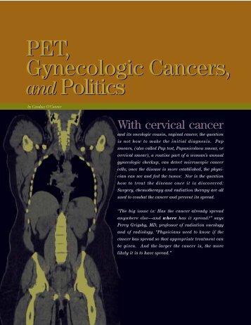 PET, Gynecologic Cancers, and Politics (PDF*) - Mallinckrodt ...