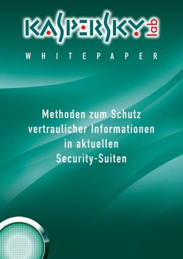 Methoden zum Schutz vertraulicher Informationen ... - Kaspersky Lab