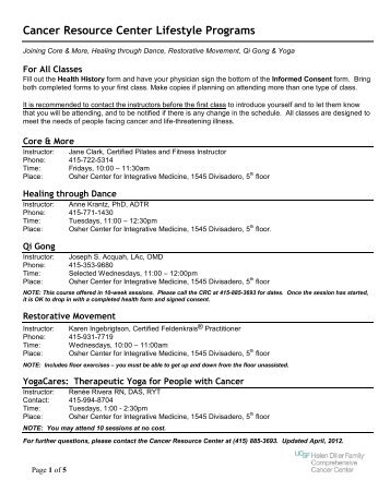 health history and signed physician's consent form - UCSF Medical ...