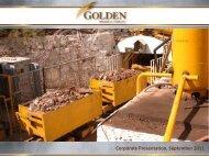 Corporate Presentation, September 2011 - Golden Minerals Company