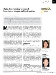 Rate determining step and kinetics of oxygen delignification