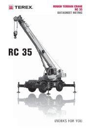 RC 35 ROUGH TERRAIN CRANE RC 35 ... - Cranes for Sale