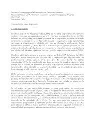 Documento de Convocatoria - Plataforma Arquitectura