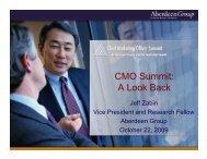 CMO Summit: A Look Back - Summit - Aberdeen Group