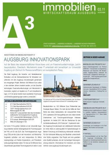 immobilien A³ 03/11 - im Wirtschaftsraum Augsburg.