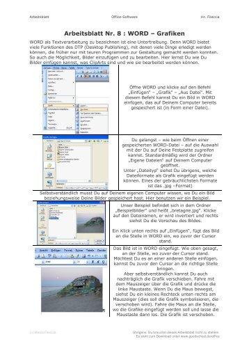 Arbeitsblatt 8: Gewässerüberformung