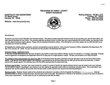 PDF Letter to Business - Horry County Government