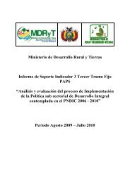 Indicador 3 - Viceministerio de Coca y Desarrollo Integral