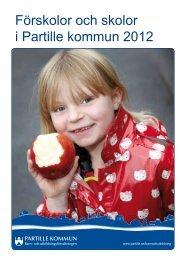 Förskolor och skolor i Partille kommun 2012