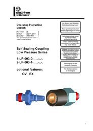 coupling, type LP-003, Rev-B - Carl Kurt Walther GmbH & Co. KG