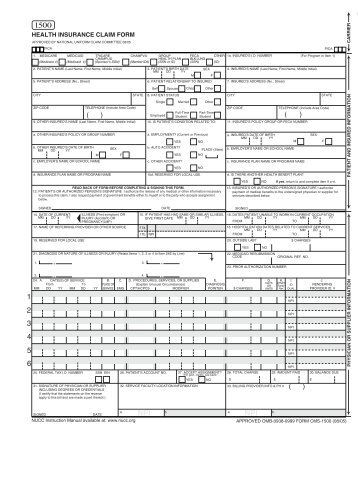 Minnesota Standards for the Use of the CMS-1500 Claim Form