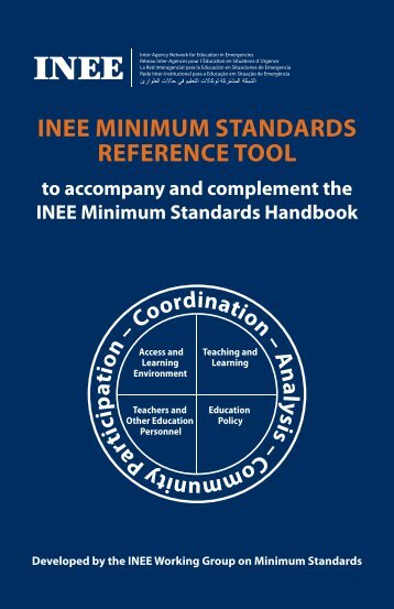 INEE MINIMUM STANDARDS REFERENCE TOOL