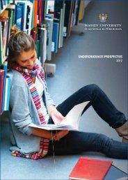 2012 Undergraduate Prospectus (2150 KB) - Massey University