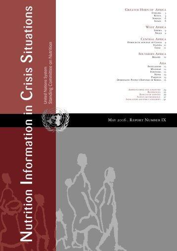 NICS Vol 9, May 2006 - UNSCN