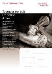 Tourneur sur bois - Institut National des Métiers d'Art