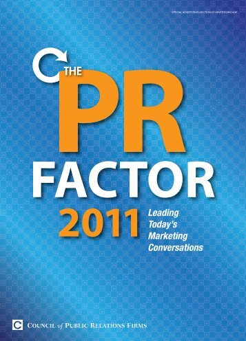 The PR Factor 2011 - Council of Public Relations Firms