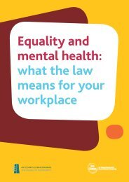 Equality and mental health: what the law means ... - Equality Authority
