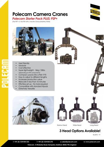 Polecam Camera Cranes - Video Cine Import