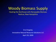 Woody Biomass Supply - Biomass Thermal Energy Council