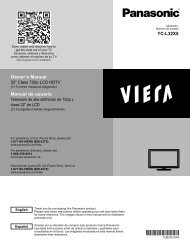 Owner's Manual Manual de usuario TC-L32X5 - Panasonic