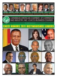cacci honors 2011 distinguished leaders - Caribbean American ...