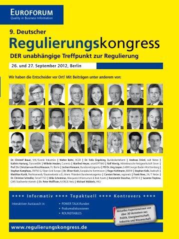 DER unabhängige Treffpunkt zur Regulierung - Ritter Gent Collegen