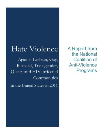 Hate Violence against the Lesbian, Gay, Bisexual ... - AVP