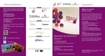 Barolo & Friends Event 3 Auflage - Buonvini