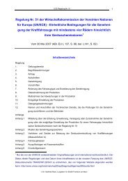 Regelung Nr. 51 der Wirtschaftskommission der Vereinten Nationen ...