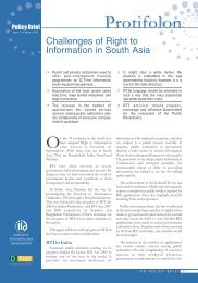 Challenges of Right to Information in South Asia. - Bangladesh ...