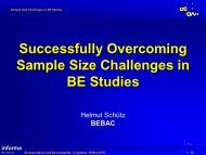 Successfully Overcoming Sample Size Challenges in BE Studies