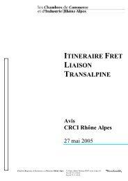 itineraire fret liaison transalpine - Les Chambres de Commerce et d ...