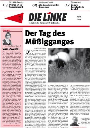 Ausgabe 04.2013 - DIE LINKE. Dresden