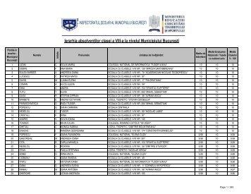 Ierarhia absolvenţilor clasei a VIII-a la nivelul ... - stirileprotv.ro