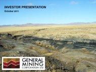 Investor Presentation October 2011 - PDF - General Mining