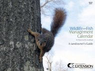 Wildlife and Fish Management Calendar - Trinity Waters