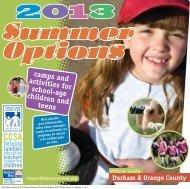 Summer Options Guide 2013, Durham & Orange Counties