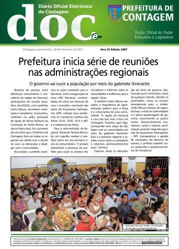 Diário Oficial Nº 3087 - Prefeitura de Contagem